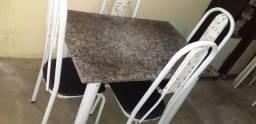 Mesa de marmore cm 4 cadeira