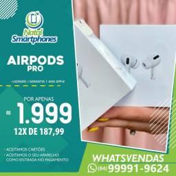 AIRPODS ( PRO ) ORIGINAL LACRADO + 1 ANO DE GARANTIA MUNDIAL APPLE