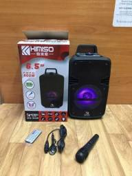 Caixa de som Kimiso Qs ? 602 amplificadora 800W p.m.p.o