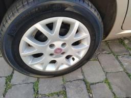 Rodas15 pneus Michelin novos troco por 16 linha fiat