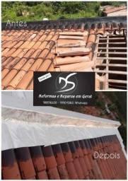 Reparo em telhado/teto/lage