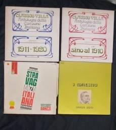 4 discos de vinil Italianos