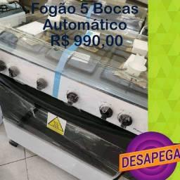 FOGÃO NOVO 5 BOCAS AUTOMÁTICO