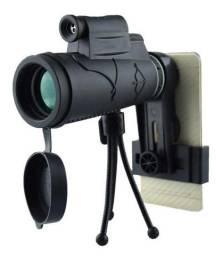 Telescópio Monocular De Lente Para Celular 12x50 Hd + Tripé + Clipe
