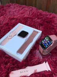 Smartwatch Iwo 12 Rosa Duas Pulseiras Lançamento Promocão