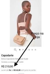 NUNCA USADA!Bolsa Capodarte Matelassê Nude.
