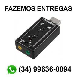 Adaptador Placa Audio Usb Pc Notebook