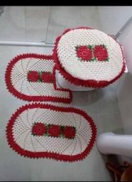 Jogo para banheiro em crochê