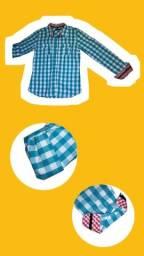 Camisa Xadrez - Marca: Rota do Mar (Pacific Blue)