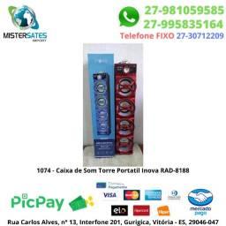 1074 - Caixa de Som Torre Portatil Inova RAD-8188 - COR Preto