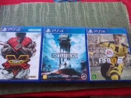 Jogos de PS4 novos Fifa star wars street fighter