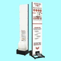 Suporte Totem Display Para Álcool Gel Higienizador Mãos - Linha Compacto