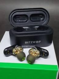 Fones bluetooth BlitaczWolf BW-FYE7 TWS- dois drivers