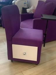 Cadeiras de manicure e pedicure