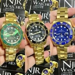 Relogio Rolex banhado a ouro automatico novo