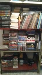Lote de Livros Famosos e Diferenciados, Filmes Originais e Fitas K7 Históricas