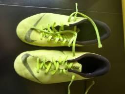 Chuteira Futsal Infantil Nike Mercurial Vapor 12 Club - Verde e Preto