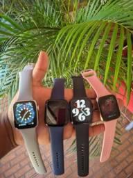 Smartwatch DT100 Faz e recebe Ligações Coloca foto