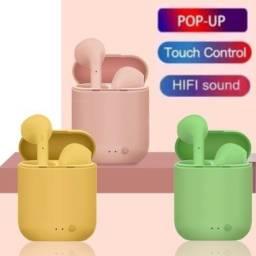 kit 3 Fone De Ouvido Bluetooth I12 Tws 5.0 Versão Touch Sem Fio