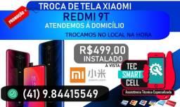 Promoção Troca display completo Xiaomi Redmi 9T / Redmi Mi A3 Instalado na hora, Garantia