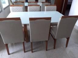 Mesa seis de jantar nova completa pronta entrega