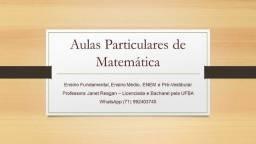 Aulas Particulares de Matemática em Salvador