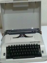 Máquina de Escrever Remington 22 C/Case Original Excelente Estado