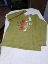 Camisa manga longa de moletom grandes marcas P, M, G e GG