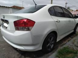 Honda City LX 1.5 manual flex 2012 branco completo couro