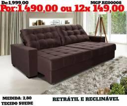 Sofazão 2,80 retratil e reclinavel - top de linha