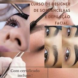 Curso de designer de sobrancelhas e depilação facial.