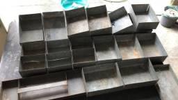 Caixas Lata de chapa de aço