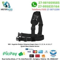 503 - Suporte Ombro Câmeras Gopro Hero 1, 2, 3, 3+, 4, 5, 6, 7 Sjcam Eken Xiaomi Atrion<br><br>