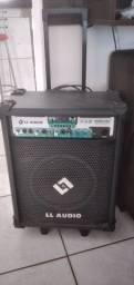 Caixa de som microfone sem fio 220 reais