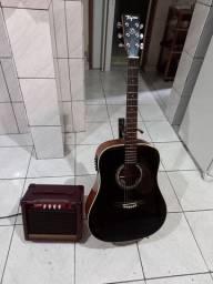 Violão elétrico + amplificador de violão