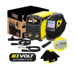 Maquina Solda Inversora Eletrodo Tig Kab 150A Kit Esquadros e Máscara Solda