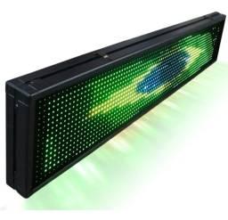 Painel De Led, Letreiro Digital 68cm X 20cm Rgb Colorido USB
