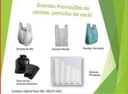 Sacolas recicladas colorida / Mixada / Alta e Saco de Lixo