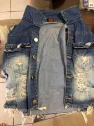 jaqueta jeans tamanho G