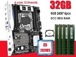Kit Placa Mãe X99 +intel Xeon E5-2620 V3 + 32gb Ddr4 1tb SSD