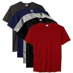 Kit 5 camisetas basicas masculina