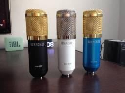 Microfone BM-800 (Azul e Branco)