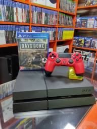 Playstation 4 + jogo daysgone - garantia de 3 meses
