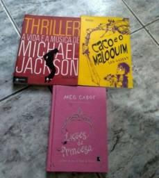 Livros: Michael Jackson/ Caco e o maloquim/ Lições de princesa