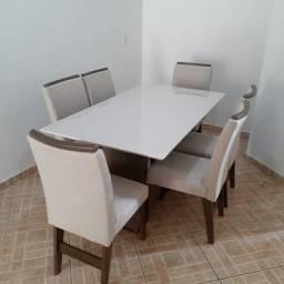 Mesa de Jantar 6 Cadeiras Vigo - - Entrega e montagem Na Hora