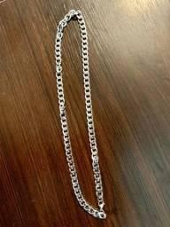 Kit pulseira+corrente banhada a prata