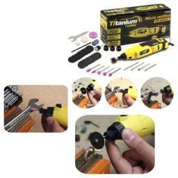 Micro Retifica Elétrica 170w Lixadeira C/40 Acessórios Titanium