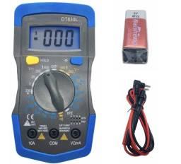 Multimetro Digital Profissional Com Beep Sonoro Iluminação no Visor - Pronta Entrega