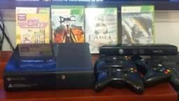 Xbox 360 500g usado origina com 3 controles, kinect, 6 jogos e hd de 1 tera ( não entrego)