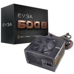 Fonte EVGA 600w 80 Plus Bronze - Praticamente Nova